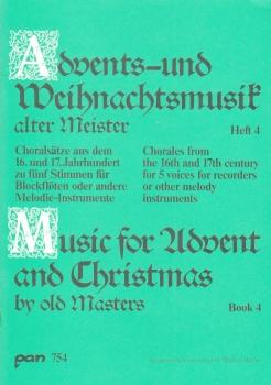 Advents- u. Weihnachtslieder alter Meister  - Blockflötenquartett   SSATB