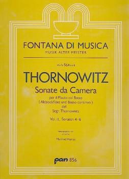 Thornowitz, Henry - Sonate da Camera 4-6  - Altblockflöte und Basso continuo
