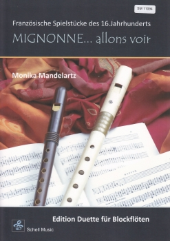 French songs from 16th century - (Arr. Monika Mandelartz) - duets for two recorders