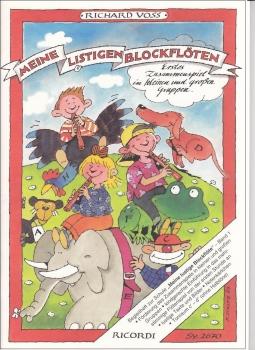 Voss, Richard - Meine listigen Blockflöten - (Begleitheft)