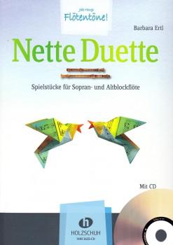 Ertl, Barbara - Nette Duette - Sopran-und Altblockflöte (mit CD)