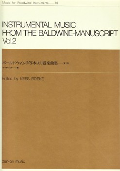 Baldwine Manuscript Vol. 1 - Instrumental Music  2 bis 3 Blockflöten