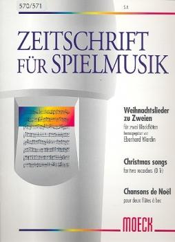 Weihnachtslieder zu zweien - Sopran- und Altblockflöte