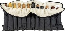 Flötenrolle mit zwölf Fächern, schwarz
