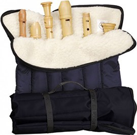 Roll Bag With Six Slots, blue