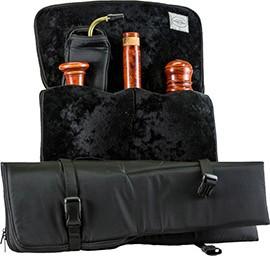 Flötentasche für Bassblockflöte, schwarz