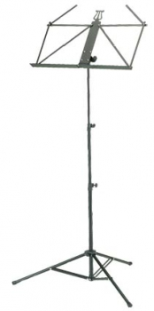 Retractable Music Stand, black aluminium, xtra light