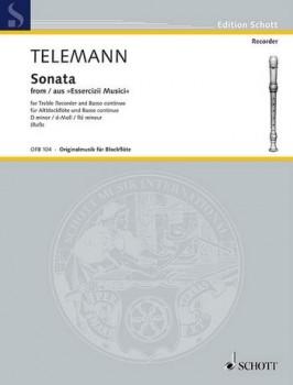 Telemann, Georg Philipp - Sonate d-moll - Altblockflöte und Basso continuo