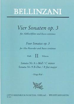 Bellinzani, Paolo Benedetto - Vier Sonaten op. 3  Band 2 - Altblockflöte und Basso continuo