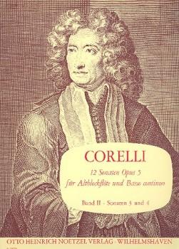 Corelli, Arcangelo - Zwölf Sonaten op. 5 / 3-4 - Altblockflöte und Basso continuo