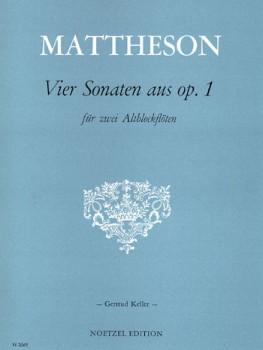 Mattheson, Johann - 4 Sonaten aus op. 1 - 2 Altblockflöten