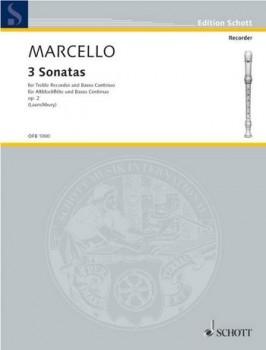 Marcello, Benedetto - Drei Sonaten aus op. 2 - Altblockflöte und Basso continuo