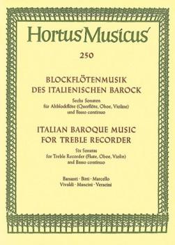 Blockflötenmusik des ital. Barock - Sechs Sonaten -  Altblockflöte und Basso continuo