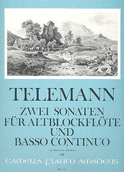 Telemann, Georg Philipp - Zwei Sonaten - Altblockflöte und Basso continuo
