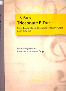 Bach, Johann Sebastian - Sonate F-dur - Altblockflöte und obligates Cembalo