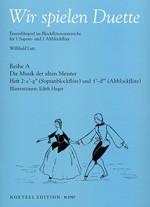 Lutz, Willibald (Hrg.) - Wir spielen Duette, Reihe A -  Heft 2 SA
