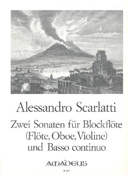 Scarlatti, Domenico - Zwei Sonaten - Altblockflöte und Basso continuo
