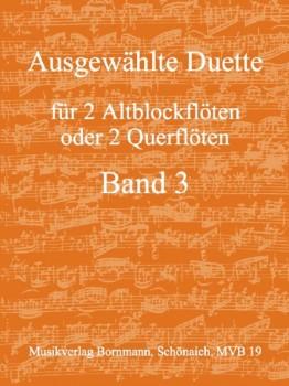 Bornmann, Johannes (Hrg.) - Ausgewählte Duette Band 3 - 2 Altblockflöten