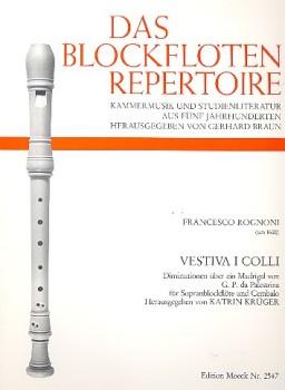 Rognoni, Francesco - Festiva i colli - Sopranblockflöte und Basso continuo