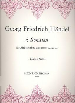 Händel, Georg Friedrich - Drei Sonaten HWV 374-376 - Altblockflöte und Basso continuo