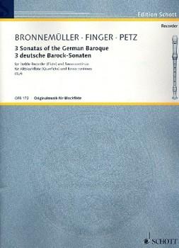 3 deutsche Barocksonaten - Altblockflöte und Basso continuo