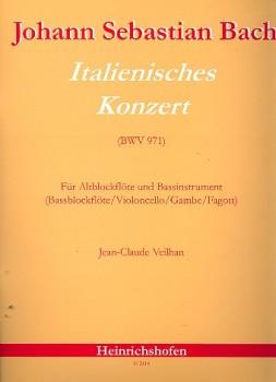 Bach, Johann Sebastian - Italienisches Konzert nach BWV 971 - Alt- und Bassblockflöte