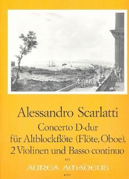 Scarlatti, Domenico - Concerto D-dur - Altblockflöte, 2 Violinen und Bc.