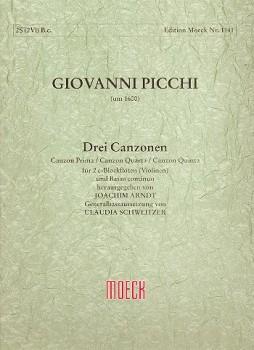Picchi, Giovanni - Drei Canzonen - 2 Sopranblockflöten und Bc.