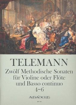 Telemann, Georg Philipp - 12 methodische Sonaten, Band 2 - Sopranblockflöte und Basso continuo