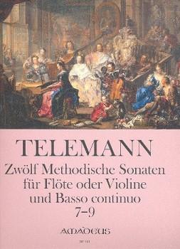 Telemann, Georg Philipp - 12 methodische Sonaten, Band 3 - Sopranblockflöte und Basso continuo