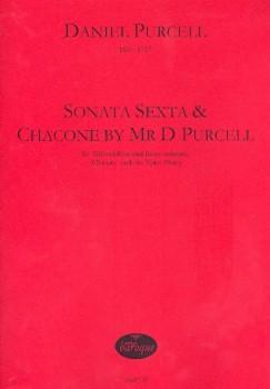 Purcell, Daniel - Sonata Sexta & Chaconne - Altblockflöte und Basso continuo