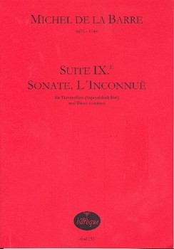 Barre, Michel de la - XI.e Suite G-dur - Sopranblockflöte und Basso continuo