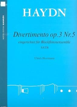 Haydn, Joseph - Divertimento C-dur op. 3 Nr. 5  - SATB