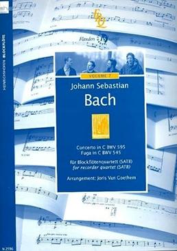 Bach, Johann Sebastian (Arr. Joris van Goethem) - Concerto in C -  BWV 595 - Fuga in C  - BWV 545 SATB