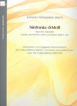 Bach, J.-S., Sinfonia d-moll  aus der Kantate 'Geist und Seele wird verwirret'