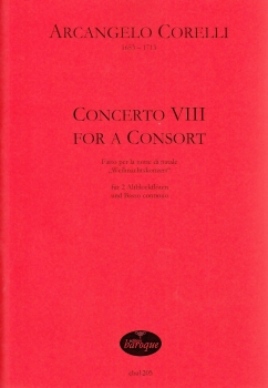Corelli, Arcangelo - Weihnachtskonzert - 2 Altblockflöten und Bc.