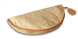 Flötentasche für Tenorblockflöte mit Ledereinfassung