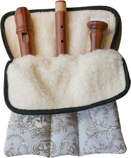Flötentasche für Tenor/Voice oder Sopran-u. Altblockflöte<br><br><b>NEU !</b>