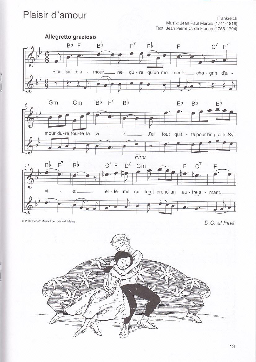 Die schönsten Folksongs, Spiel und Spaß, Noten, Altflöte
