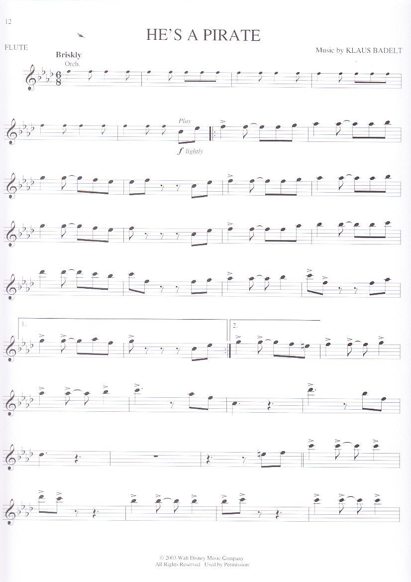 Noten kostenlos fluch der karibik klavier KLAVIERNOTEN FLUCH