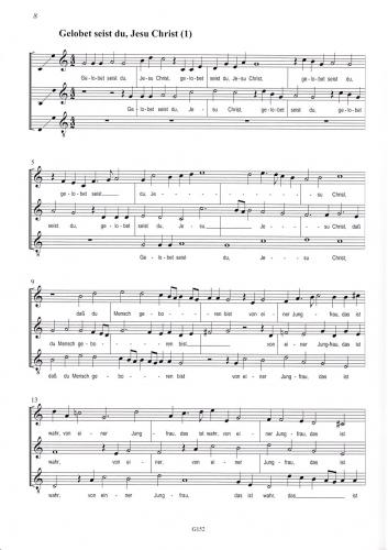 3 Stimmige Weihnachtslieder.Praetorius Puer Natus In Bethlehem Blockflöten Noten G152