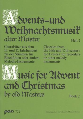 Adventslieder, Weihnachtsmotette, Blockflötenensemble, Noten, Pan752