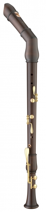 bass recorder Moeck 2541 Flauto Rondo bend neck, maple stained