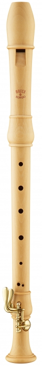 treble recorder Moeck 3320 Flauto Rondo, german fingering, maple, double key