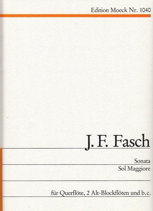 Fasch, Johann Friedrich - Sonata G-dur - Querflöte, zwei Altblockflöten und Bc.