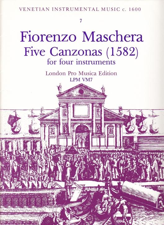 Maschera, Fiorenzo - Fünf  Canzonen - SATB