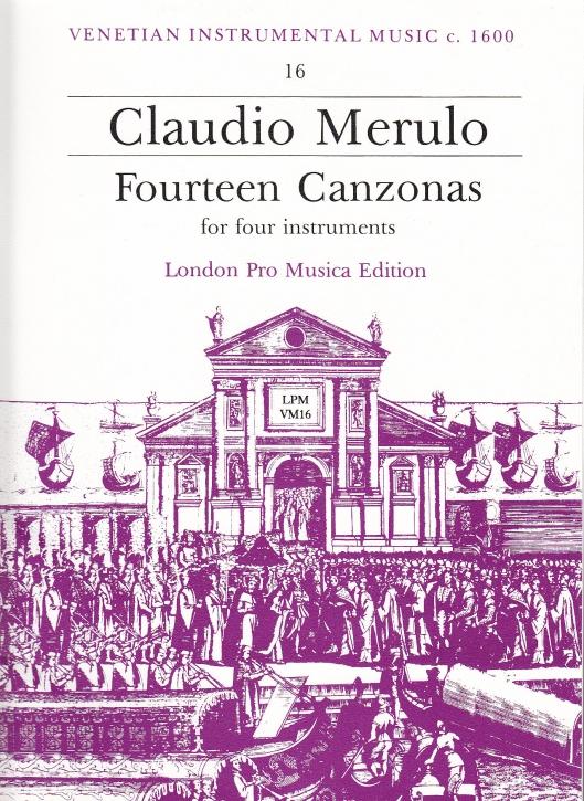 Merulo, Claudio - 14 Canzonen - SATB