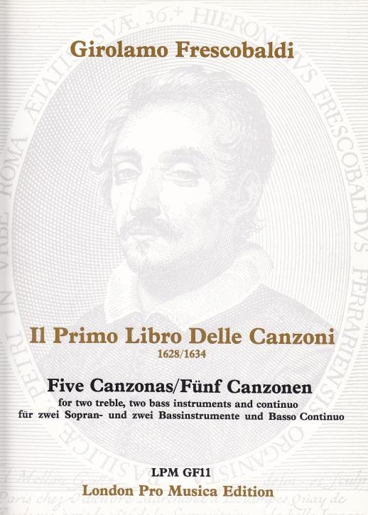 Frescobaldi, Girolamo - 5 Canzonen - 2 Sopranblockflöten, 2 Bassinstrumente und Bc.