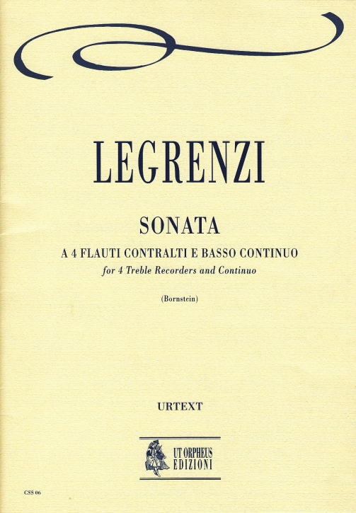 Legrenzi, Giovanni - Sonata - 4 Altblockflöten und Bc.