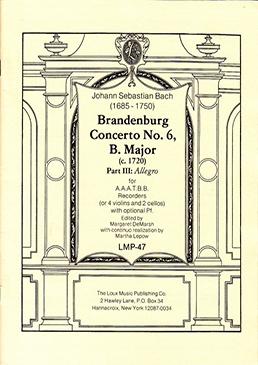 Bach, Johann Sebastian - Brandenburgisches Konzert Nr. 6 - 3. Satz AAATBB (Partitur)